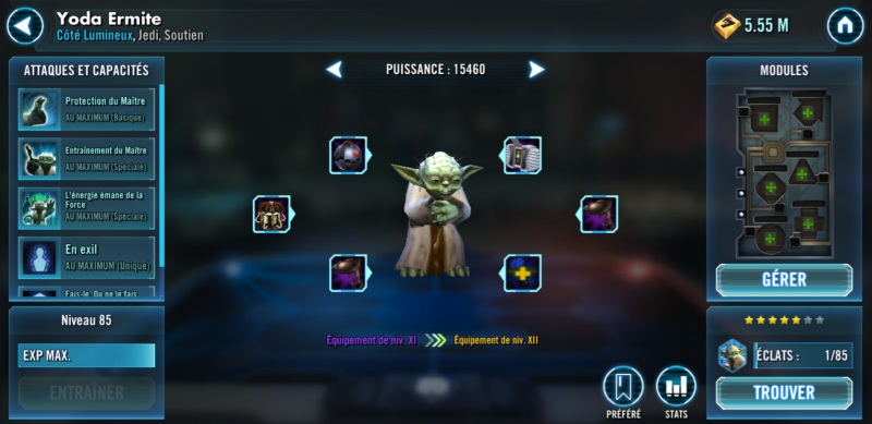 Unlocked and geared Yoda
